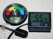 Hygrometers are humidty gauges that are useful for monitoring the humidty levels within your Chinese Water Dragon's enclosure